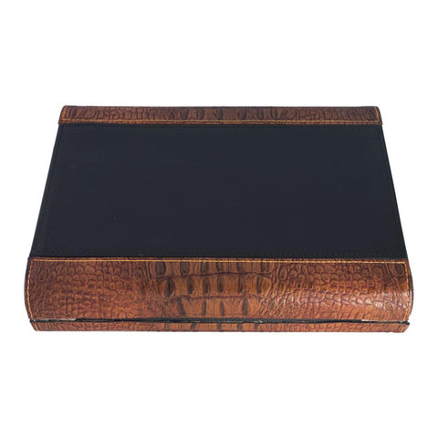 Sobek Brown Leather Travel Humidor 10 Cigar Count - Shades of Havana