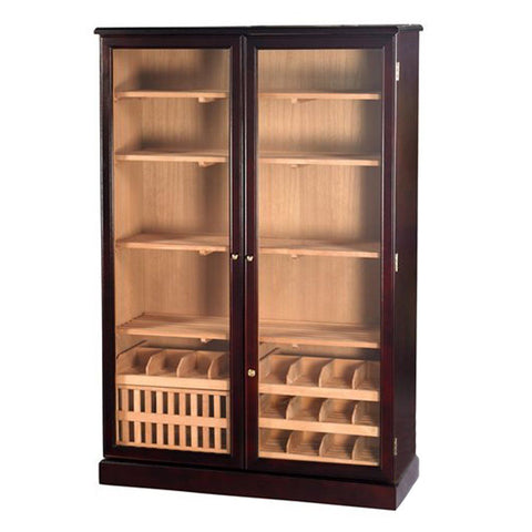 Sovereign Humidor Cabinet Glass Door 4000 Cigar Count - Shades of Havana