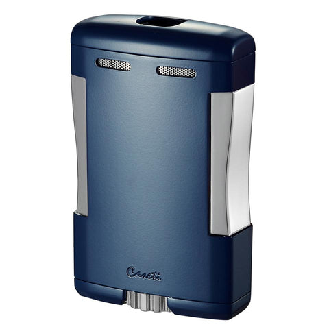 Image of Sparta - Blue Matte Triple Torch Flame Cigar Table Lighter - Caseti - Shades of Havana