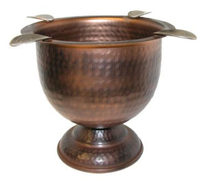 Stinky 4 Stirrup Tall Cigar Ashtray - Hammered Copper