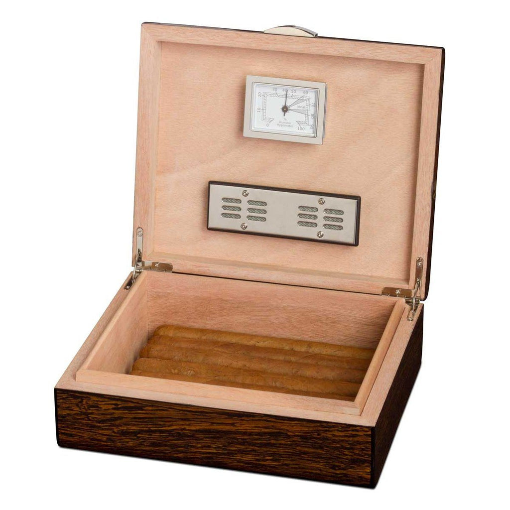 Study 25 Cigar Count Humidor | Ironwood Finish