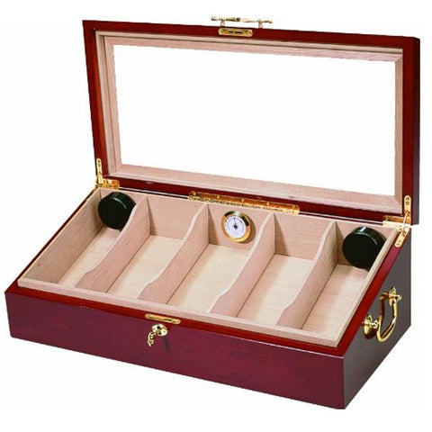 Talencia Glass Top Display Humidor 100 Cigar Count - Shades of Havana