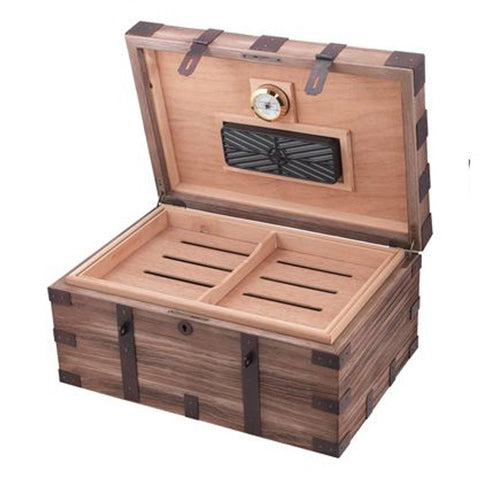 Image of Renaissance Antique Style Humidor 120 Cigar Count - Shades of Havana
