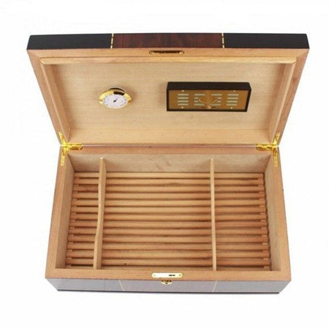 Image of Don Salvatore Ticker 175 Count High Gloss Humidor - Shades of Havana