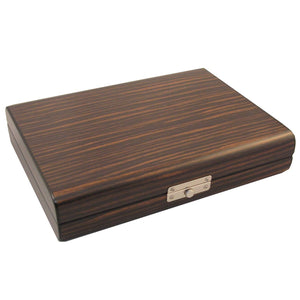 Timber Travel Humidor Ebony Wood with Humidifier - Shades of Havana