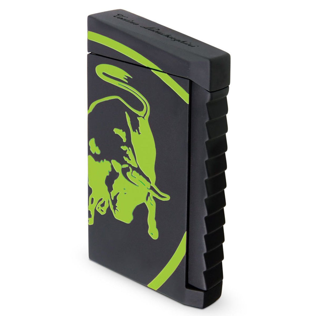 Toro - Black Rubberized Finish Lighter - Green Bull - Tonino Lamborghini - Shades of Havana