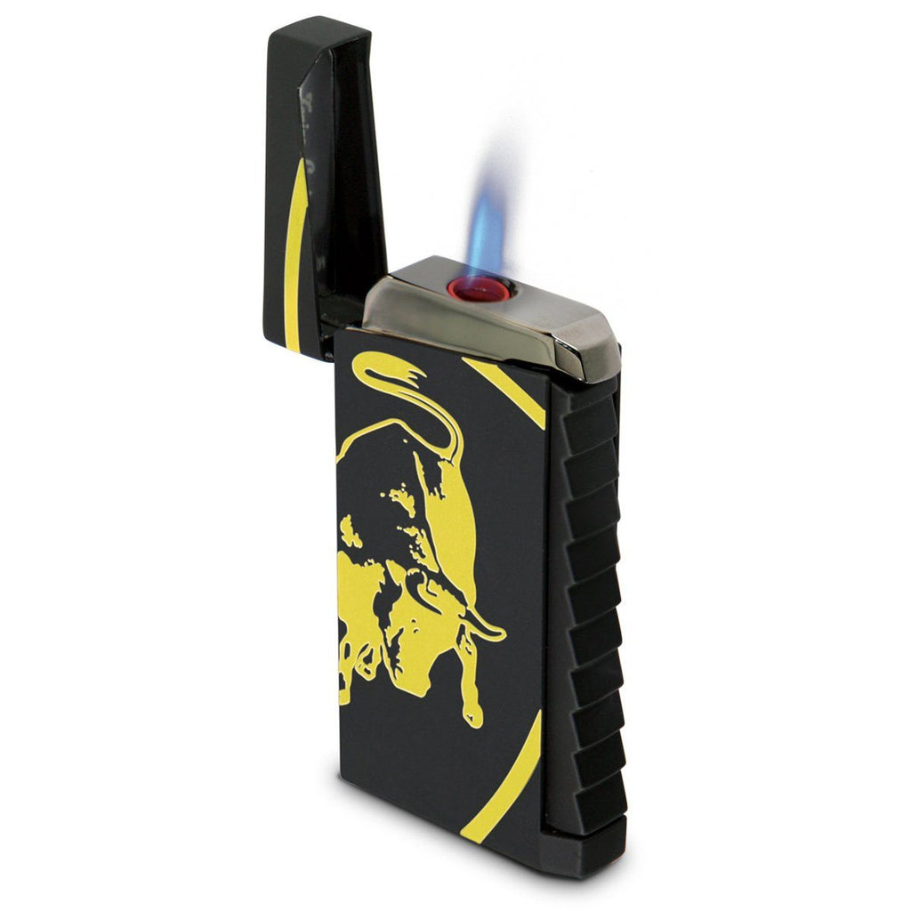 Toro - Black Rubberized Finish Lighter - Yellow Bull - Tonino Lamborghini - Shades of Havana