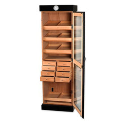 Tower of Power 2000 Cigar Humidor Cabinet | Elegant Glass Display