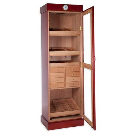 Image of Tower of Power Humidor Cabinet 2000 Cigar Count - Shades of Havana