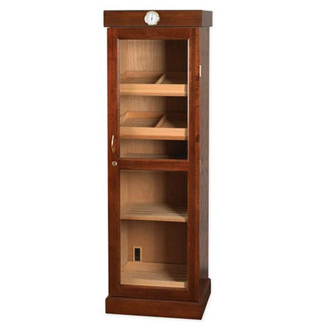 Image of Tower of Power II Humidor Cabinet 2000 Cigar Count | Beveled Glass Door - Shades of Havana