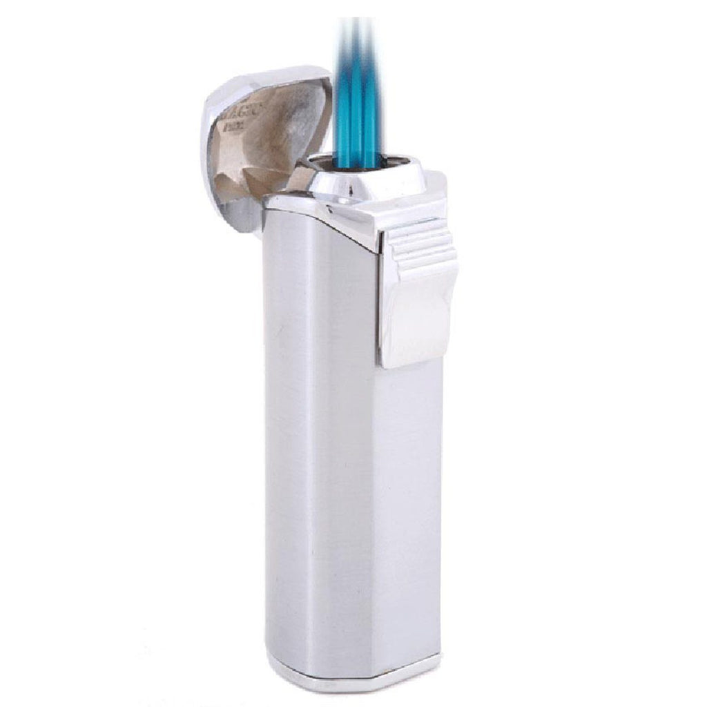 Trio Triple Torch Flame Lighter with Built-In Cigar Punch - Shades of Havana