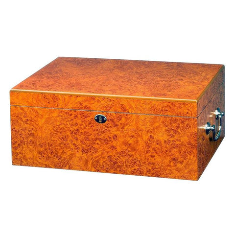 Image of Tuscany Humidor 100 Cigar Count | Light Burl Finish - Shades of Havana