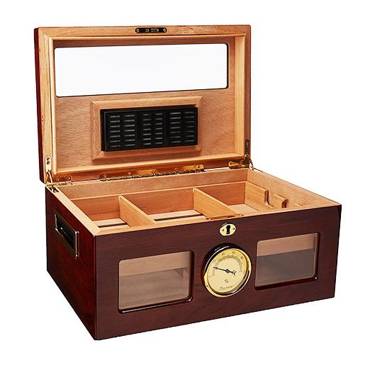 Valencia Glass Top Humidor 120 Cigar Count - Shades of Havana