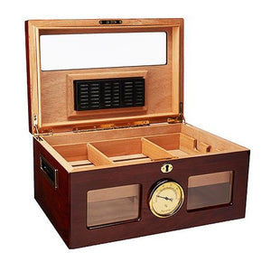 Valencia Glass Top Humidor 120 Cigar Count