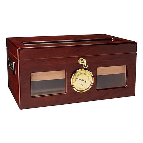 Image of Valencia Glass Top Humidor 120 Cigar Count - Shades of Havana