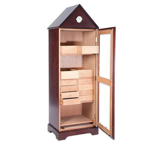 Image of Verona Deluxe Humidor Tower 3000 Cigar Cabinet
