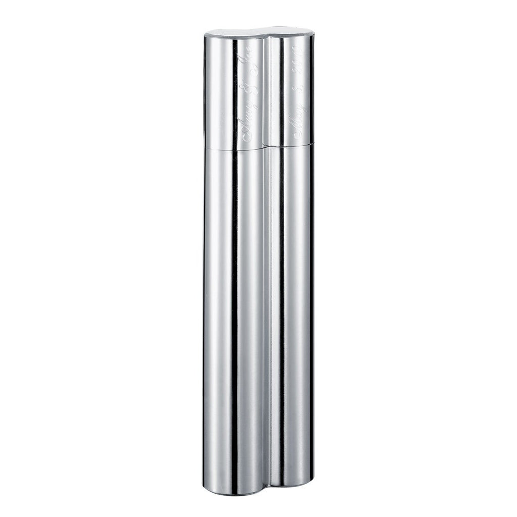Bacuit Metal 2 Cigar Tube | Stainless Steel - Shades of Havana