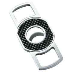Cabral Carbon Fiber Guillotine Cigar Cutter | Brushed Chrome