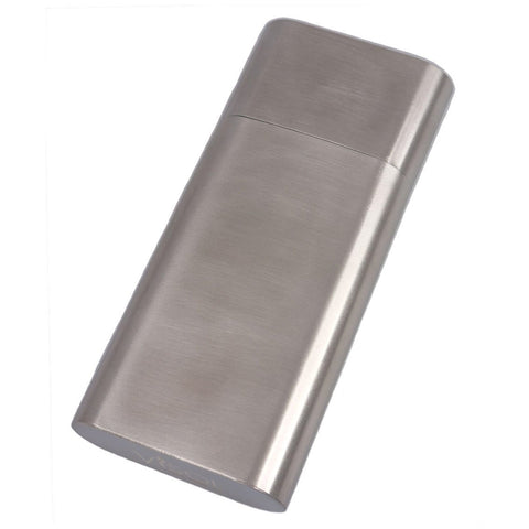 Colton Brushed Steel Cigar Case - Shades of Havana