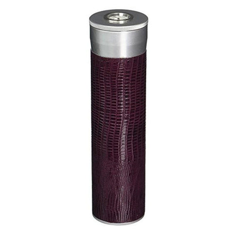 Comodo Aluminum Cigar Case | Dark Purple Leather - Shades of Havana