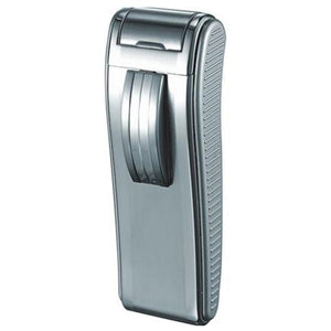 Mako Satin Chrome Wind-Resistant Torch Flame Cigar Lighter - Shades of Havana