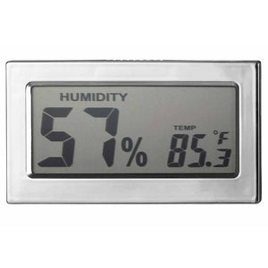 Modern Rectangular Digital Hygrometer - Shades of Havana