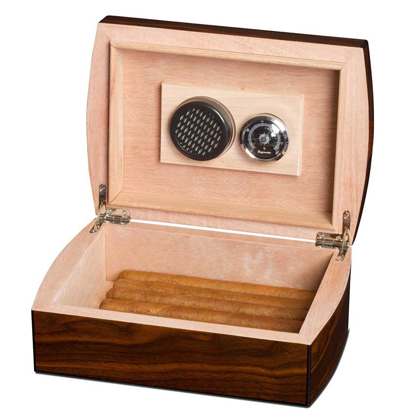 Humidor Kit 25 Cigar Count Including Ashtray & Cutter | Walnut - Shades of Havana