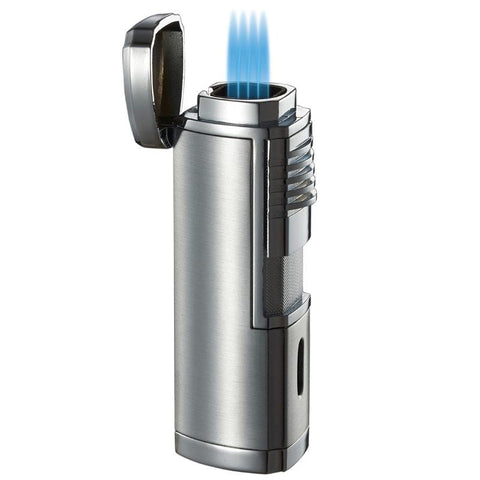 Image of Visol Pyrgos Quad Flame Torch Lighter - Shades of Havana