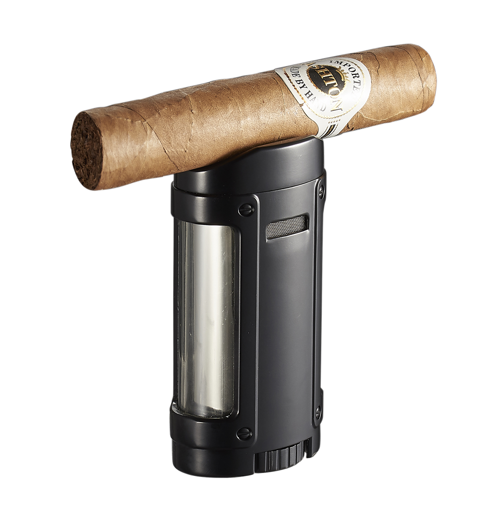 Rhino Brushed Red Quad Torch Flame Cigar Lighter