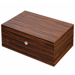 Richardson Premium Wood Humidor 100 Cigar Count - Shades of Havana