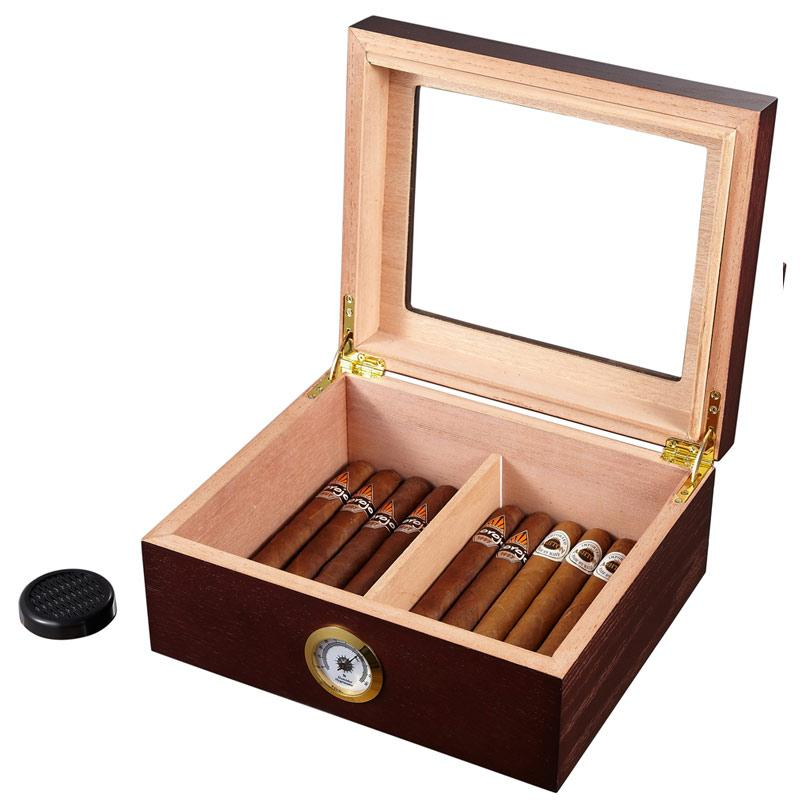 Santa Clara Glass Top Humidor 50 Cigar Count | Rosewood - Shades of Havana