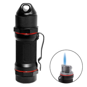 Storm High Altitude Wind Proof Torch Flame Lighter | Black