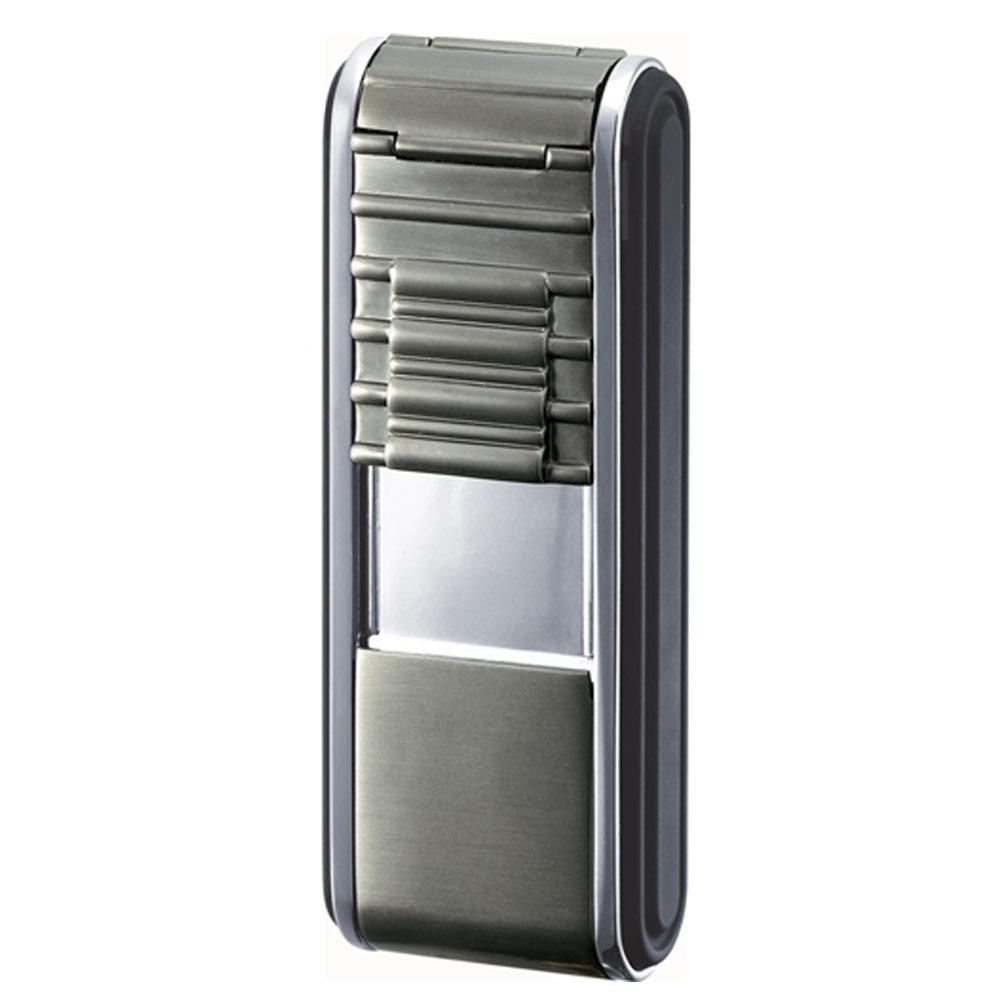 Track Wind Resistant Torch Flame Lighter | Gunmetal - Shades of Havana