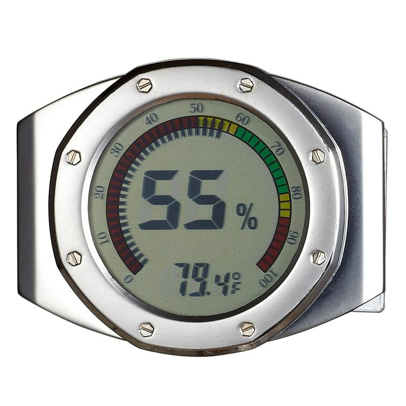 UltraModern Circular Digital Hygrometer - Shades of Havana