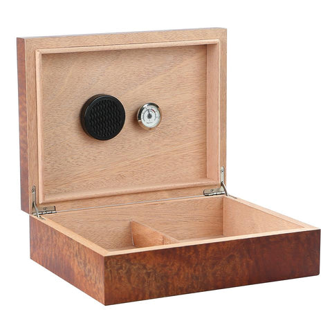Image of Vizcaya Makore Pommel Small Humidor | 25 to 50 Cigar Count