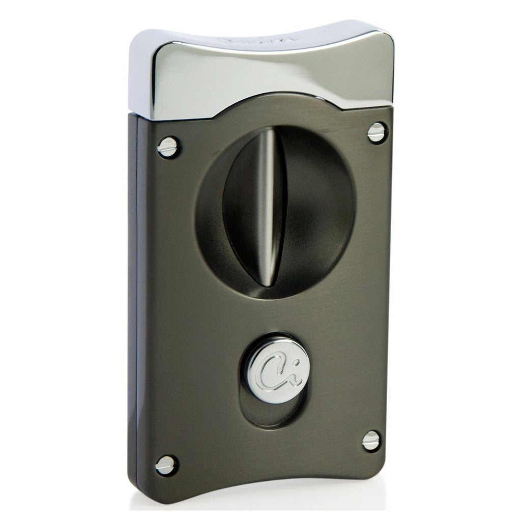 Wedge V Cigar Cutter - Gunmetal - Caseti