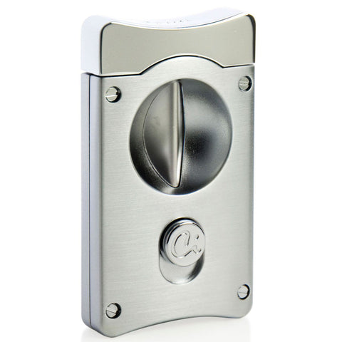 Wedge V Cigar Cutter - Satin Chrome - Caseti - Shades of Havana