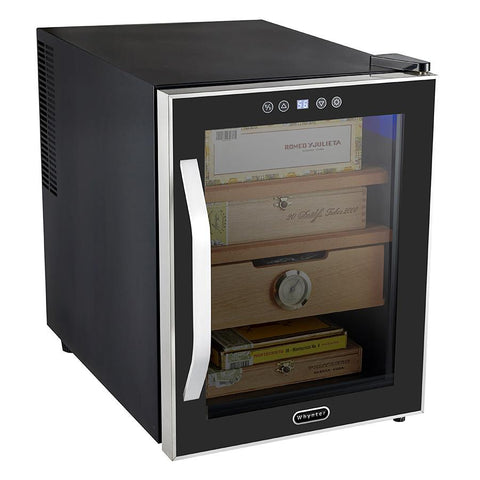 Whynter Elite Touch Control Stainless 1.2 cu.ft. Cigar Cooler Humidor - CHC-122BD - Shades of Havana