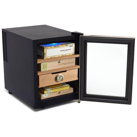 Image of Whynter Elite Touch Control Stainless 1.2 cu.ft. Cigar Cooler Humidor - CHC-122BD - Shades of Havana
