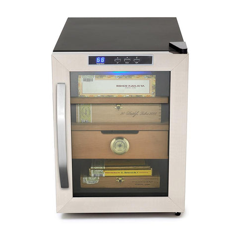 Image of Whynter Stainless Steel 1.2 cu. ft. Cigar Cooler Humidor 250 Cigars - CHC-120S - Shades of Havana