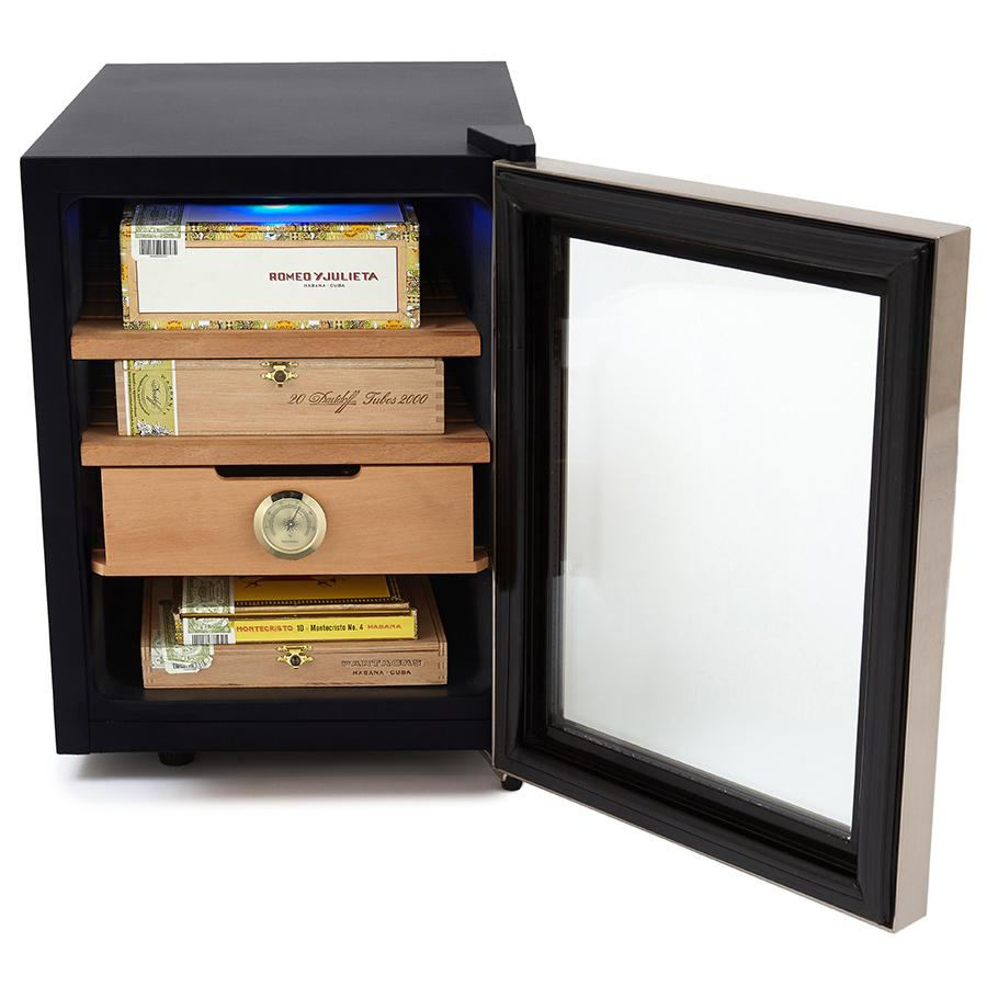 Whynter Stainless Steel 1.2 cu. ft. Cigar Cooler Humidor 250 Cigars - CHC-120S - Shades of Havana