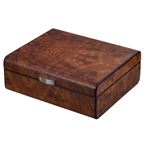 Image of Widar 25 Cigar Count Humidor | Smooth Burlwood - Shades of Havana