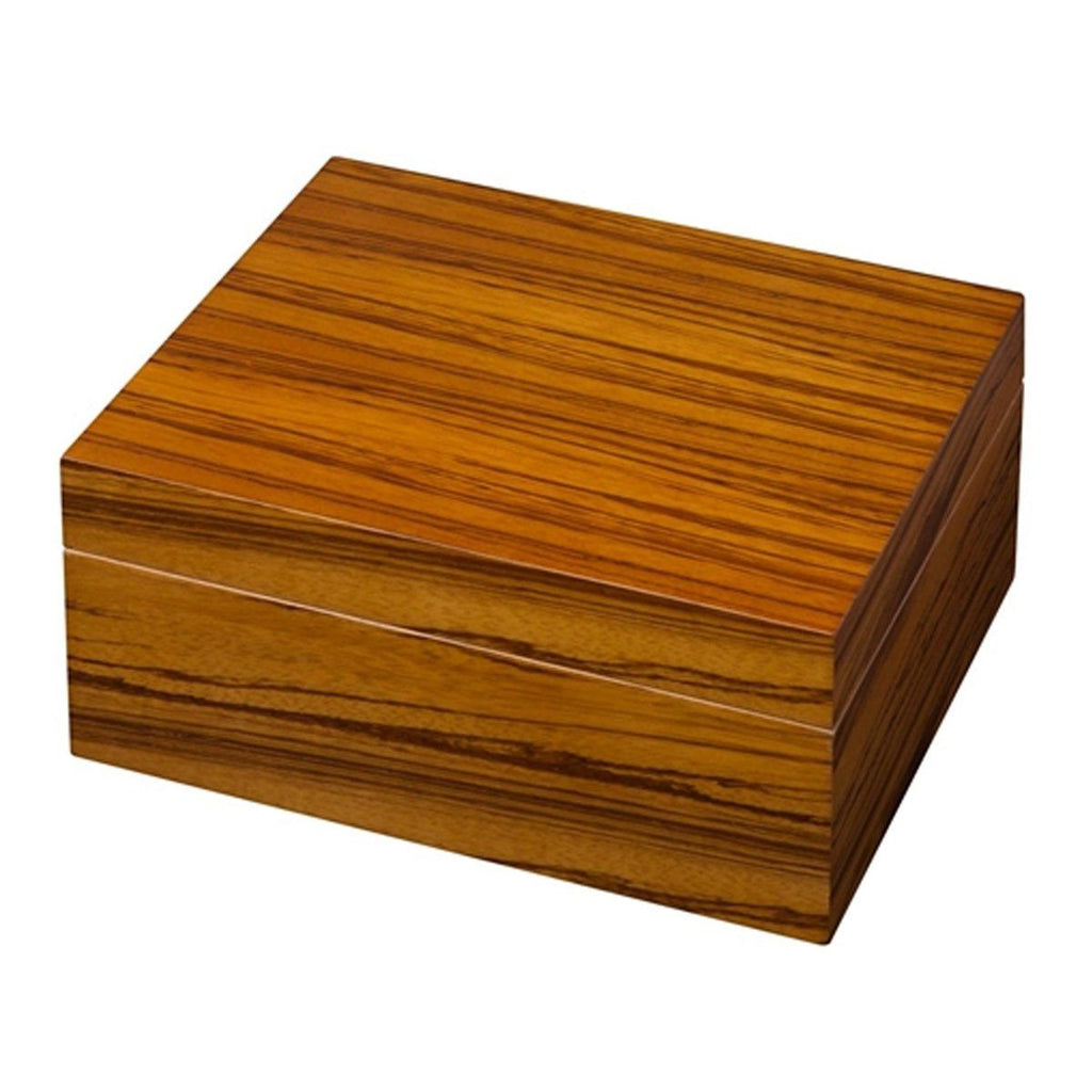 Wood Veneer 50 Cigar Count Humidor - Shades of Havana