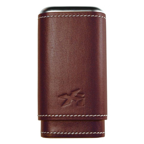Xikar Envoy 3-Finger Leather Cigar Case - Shades of Havana