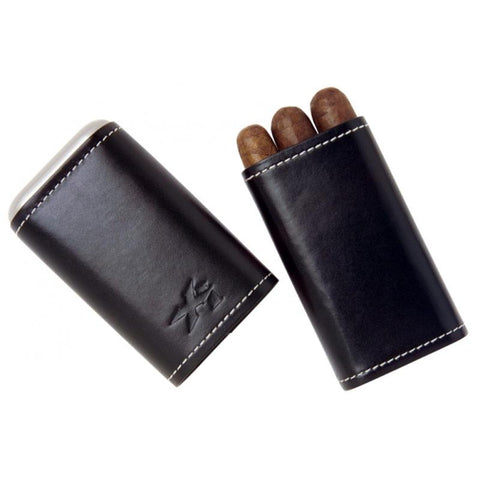 Image of Xikar Envoy 3-Finger Leather Cigar Case - Shades of Havana
