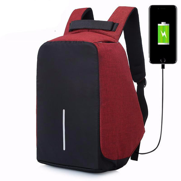 Third Generation USB Charging Anti Theft Oxford Backpacks