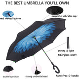 Inverted Windproof Umbrella w/ Handsfree C-hook handle