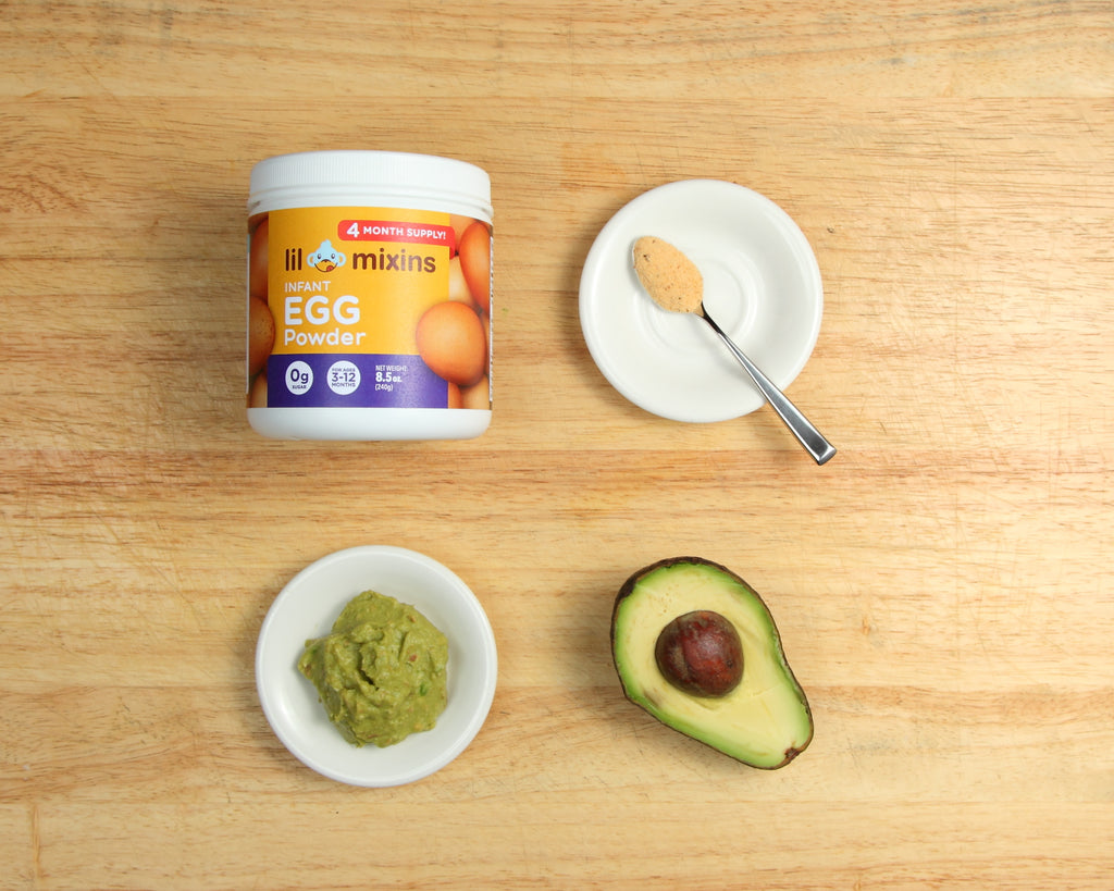 Lil Mixins Infant Egg Powder Avocado Recipe for Babies
