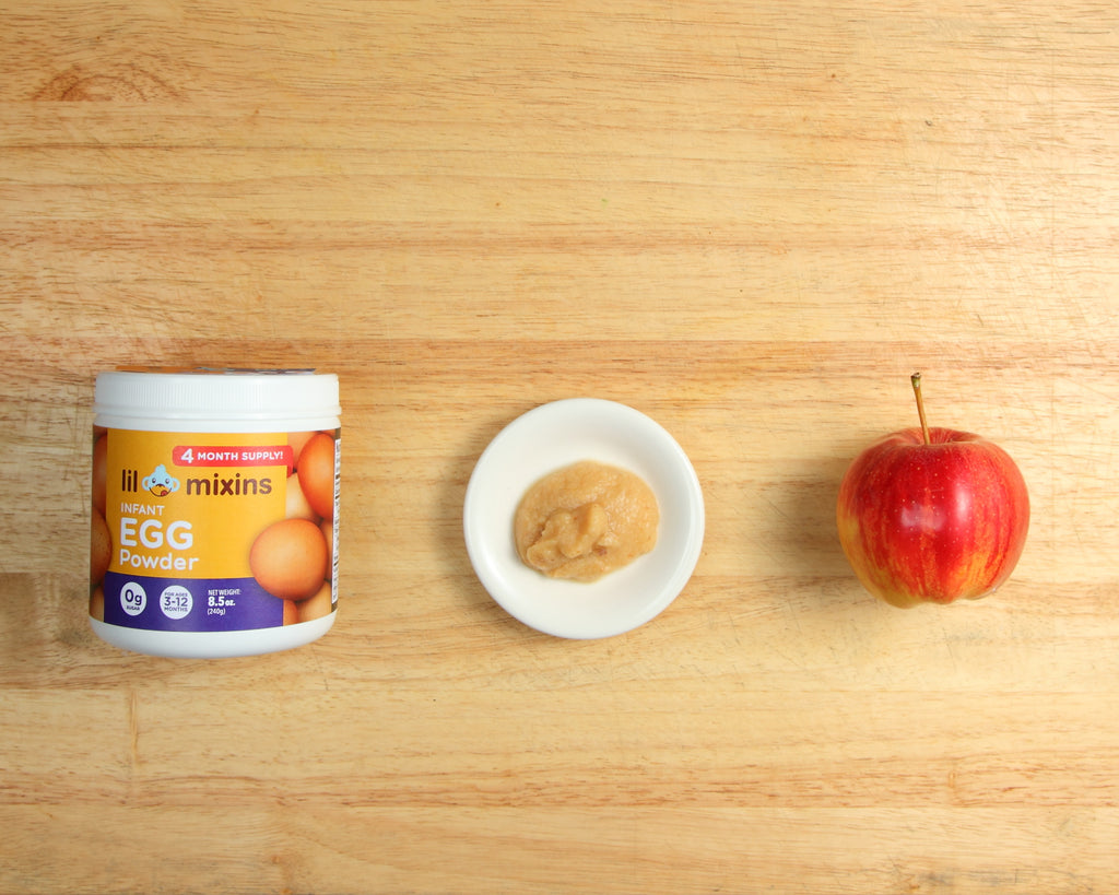 Lil Mixins Infant Egg Powder Apple Recipe for Babies