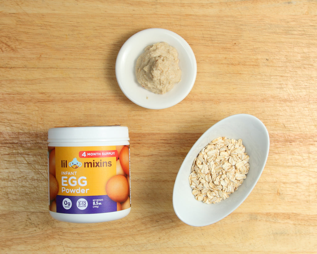 Lil Mixins Infant Egg Powder Oatmeal Recipe